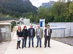 El consejero Esparza ha visitado las instalaciones de las depuradoras en Burgui y Uztarroz