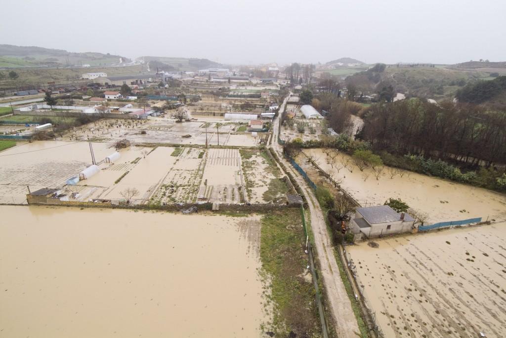 Inundaciones en Tudela y Tafalla por las tormentas de las últimas horas