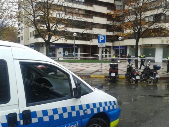 Dos detenidos por intentar atracar un banco en Pamplona