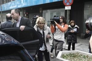 Esperanza Aguirre a la salida del juzgado. Foto: Europa Press