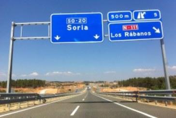 Se abre un nuevo tramo de la Autovía de Navarra A-15 en la variante de Almazán (Soria)