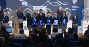El gordo del sorteo del niño, 76.254, vendido íntegramente en Monforte de Lemos (Lugo)
