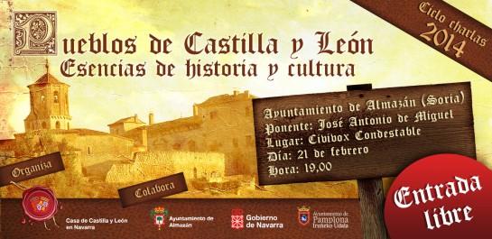 Viernes 21 de febrero, Civivox Condestable, charla Ayuntamiento de Almazán (Soria), organiza la Casa de Castilla-León