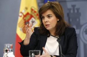 Soraya Sáez de Santamaría, vicepresidenta del Gobierno.