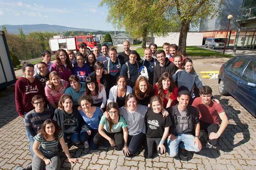 Estudiantes de la UN realizan un simulacro de emergencias