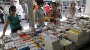 Feria del libro en Pamplona.