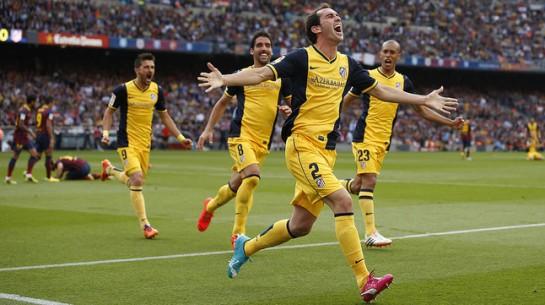 El Atlético de Madrid, campeón de Liga al empatar con el Barcelona en el Nou Camp (1-1)