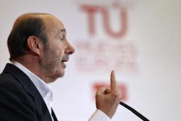 Pérez Rubalcaba contradice a Felipe González y le contesta que no habrá gobierno de concentración