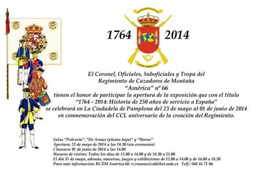 """AGENDA: 23 mayo-1 de junio, en la Ciudadela """"1714-2014: historia de 750 de servir a España"""""""