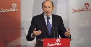 El secretario general del PSOE, Alfredo Pérez Rubalcaba. Imagen: EFE