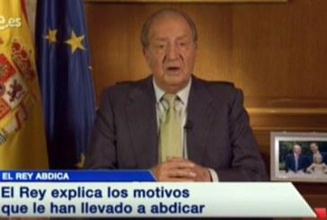 Juan Carlos I se despide de su reinado en España durante 39 años con un comunicado emitido en TV