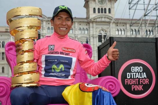 El colombiano Nairo Quintana, vecino de Gorráiz, se proclama vencedor del Giro de Italia