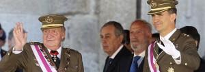 El Rey y el Príncipe juntos hoy en el acto del Ejército en el Escorial-EFE