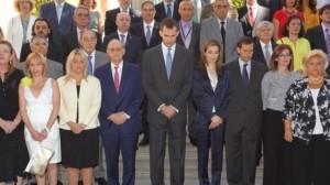 Los Reyes escuchan durante más de una hora a las víctimas del terrorismo en su primer acto oficial