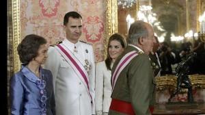 Los Reyes y los Príncipes de Asturias, en la recepción con motivo del Día de las Fuerzas Armadas- EFE