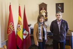 Nieves Ciprés, líder de DNE, junto a Javier Echarri.