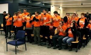 Miembros de Segi durante un juicio el pasado mes de octubre. EFE
