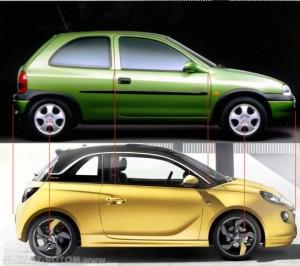 Modelos Opel Adam y Opel Corsa.