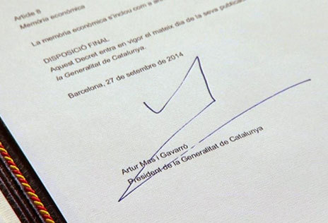 Firmada la consulta soberanista del 9-N
