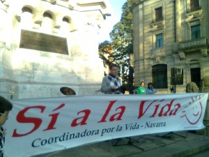 Manifestación  contra el aborto en Pamplona. elirrintzi.blogspot.com-