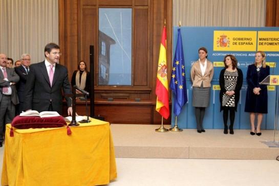Rafael Catalá en el acto de toma de posesión en el Ministerio de Fomento.