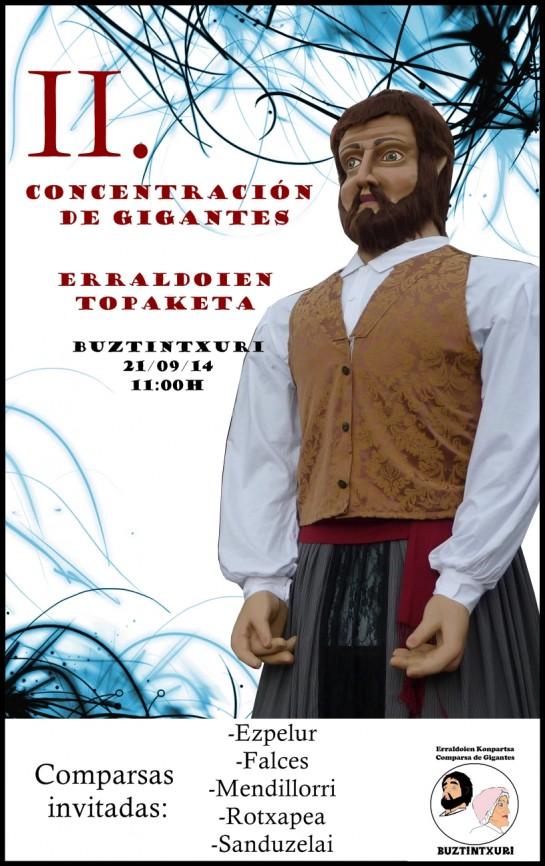 AGENDA: 19, 20 y 21 de septiembre, en Buztintxuri, concentración de gigantes y cabezudos