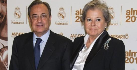 Los Ultras Sur pintan la tumba de 'Pitina', la mujer del presidente del Real Madrid, Florentino Pérez