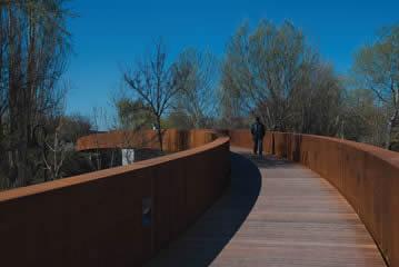 Una pasarela peatonal completará el Puente de Biurdana sobre el Arga, en San Jorge