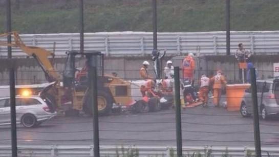 Bianchi, en estado crítico tras un grave accidente en el GP de Japón