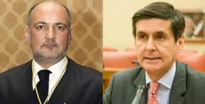 El presidente del  Constitucional, Francisco Pérez de los Cobos, y el magistrado Pedro José González-Trevijano. EFE
