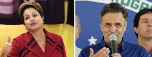 La presidencia de Brasil será un mano a mano entre Dilma Rousseff y Aécio Neves.