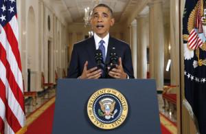 Barack Obama, durante su discurso sobre política migratoria, este jueves en la Casa Blanca. (Foto: AP).