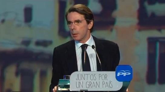 Aznar en la convención del PP y ante Rajoy pregunta «dónde está el PP»
