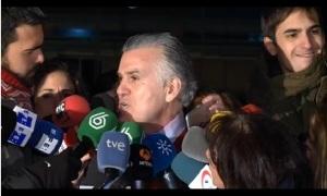 Bárcenas a la salida de la prisión de Soto el Real Navarra Inforamción