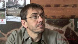 Juan Carlos Monedero en una entrevista en 2012. DR