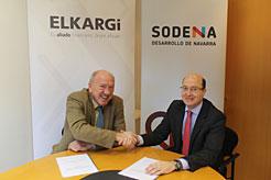 Sodena y Elkargi firman un convenio para financiación de las pymes navarras