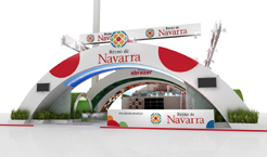 El «stand» anual de Navarra ya está en Fitur