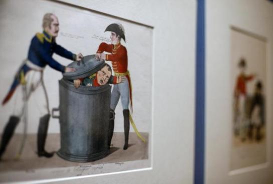 Napoleón visto por caricaturistas de su época en el Museo Británico