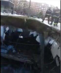 Imagen del derrumbe del nuevo Parking de la Audiencia de Pamplona