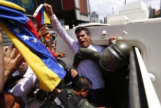 El líder opositor Leopoldo López cumple un año preso de la justicia chavista