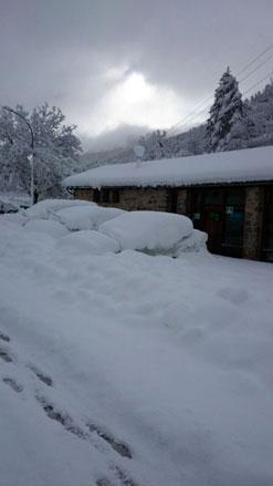 Alerta roja en Navarra por nieve y heladas