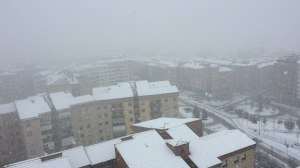 Pamplona bsajo la nieve. L.F. Navarrainformacion.es