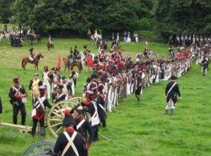 Un millar de actores recrean el 18 de junio de 2006 len Waterloo, Bélgica, la batalla que marcó la caída de Napoleón en 1815. DR