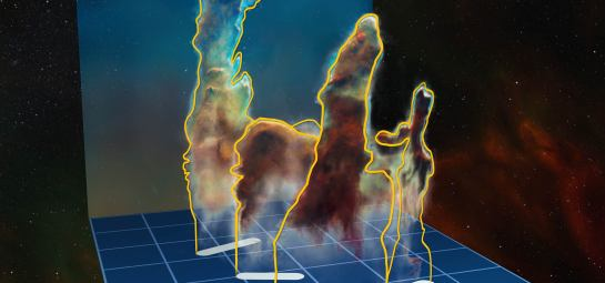 Los pilares de la creación, revelados en 3D