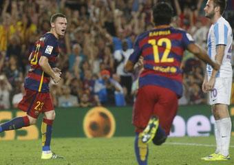 1-0. El Barcelona gana al Málaga con sufrimiento