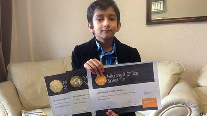 Humza Shahzad, especialista de Microsoft con tan sólo 6 años