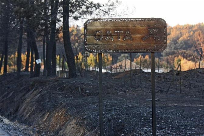 La Sierra de Gata mantiene el nivel 2 de alerta por una posible reactivación de las llamas