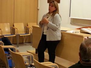 Amelia Salanueva en la sede de UPN Estella