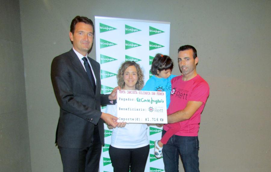 El Corte Inglés entrega cerca de 2.000 euros a la Asociación Una Mirada Rett
