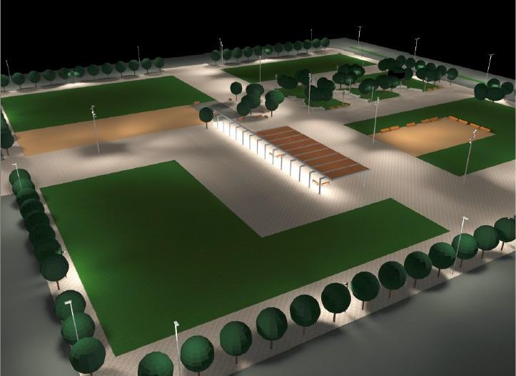 La nueva plaza central de Lezcairu finalizará el verano de 2016
